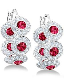 """Swarovski Crystal Hoop 5/8"""" Earrings"""