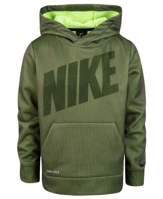 Nike Toddler Boys Therma-FIT Mesh Pullover Hoodie , Gray, Size: 3T