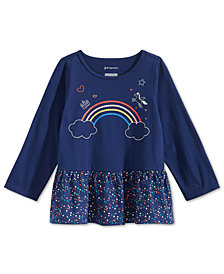 First Impressions Toddler Girls Rainbow-Print Cotton Tunic, Created for Macy's