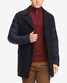 Tommy Hilfiger Men's Grant Puffer-Sleeve Peacoat, Created for Macy's