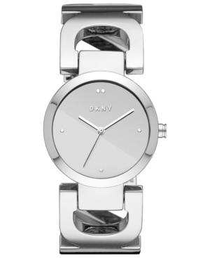 Dkny WOMEN'S CITY LINK STAINLESS STEEL BANGLE BRACELET WATCH 36MM, CREATED FOR MACY'S