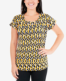 NY Collection Printed Chain-Link Top
