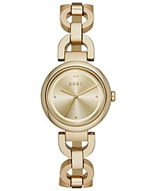 Women's Eastside Gold-Tone Stainless Steel Chain Bracelet Watch 30mm, Created for Macy's