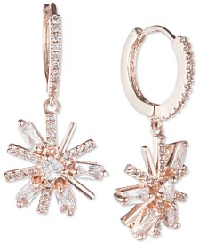 Jenny Packham Crystal Flower Drop Earrings