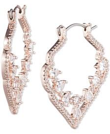 """Crystal Decorative Medium 1-2/5""""  Medium Hoop Earrings"""