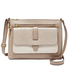 Fossil Kinley Medium Suede & Leather Crossbody