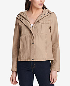 Levi's® Cotton Hooded Cargo Jacket