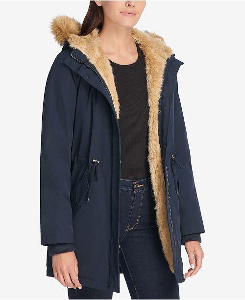 3f98cd877 Levi's Arctic Cloth Faux-Fur-Trim Parka & Reviews - Jackets & Blazers ...