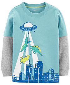 Carter's Baby Boys Dino & UFO Graphic Cotton T-Shirt