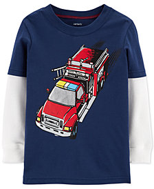 Carter's Baby Boys Firetruck Graphic Cotton T-Shirt