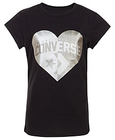 Converse Big Girls Heart Logo T-Shirt