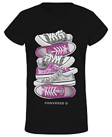 Big Girls Sneaker-Print T-Shirt