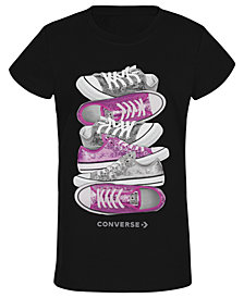 Converse Big Girls Sneaker-Print T-Shirt