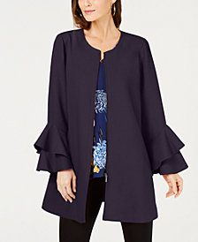 Alfani Petite Ruffled-Sleeve Jacket, Created for Macy's