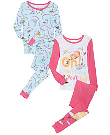 Dr. Seuss Toddler Girls 4-Pc. Oh! The Places You'll Go! Pajamas Set