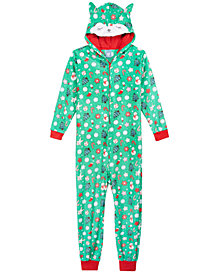 Max & Olivia Big Girls Fox Hooded Onesie, Created for Macy's