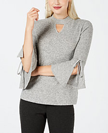 BCX Juniors' Bell-Sleeve Keyhole Top