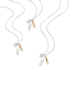 Zodiac Charm Two-Tone Necklace Collection