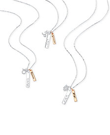 Unwritten Zodiac Charm and Dog Tag Two-Tone Necklace Collection