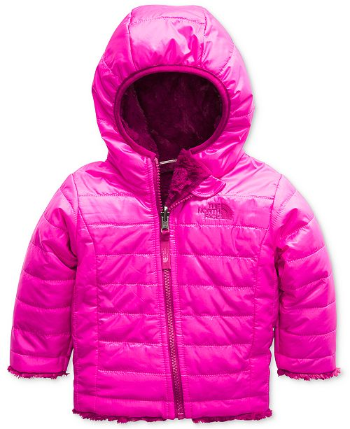 d9e4c9ce48f3 The North Face Baby Girls Reversible Mossbud Swirl Hooded Puffer ...