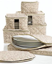 Homewear Fine China Storage Set, 8 Piece Hudson Damask