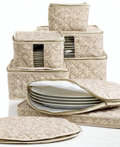 Homewear Fine China Storage Set 8 Piece Hudson Damask