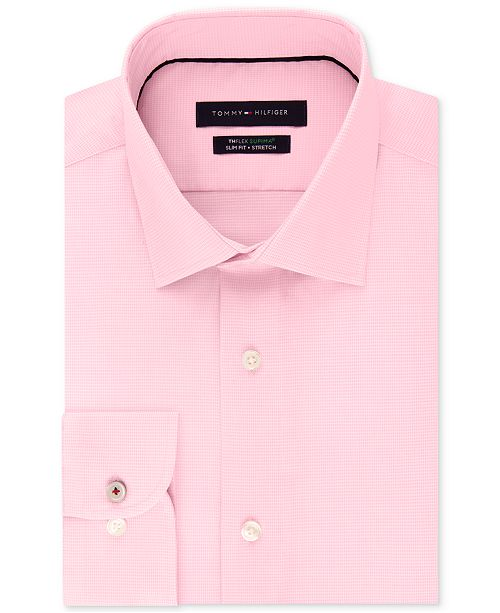 ... Shirt  Tommy Hilfiger Men s Slim-Fit Non-Iron Performance Stretch Check  Dress ... 9e31be5b1