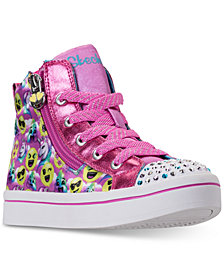 Skechers Little Girls' Twinkle Toes: Twi-Lites - Smile Style High-Top Light-Up Casual Sneakers from Finish Line