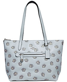 COACH Rose-Print Taylor Tote in Pebble Leather