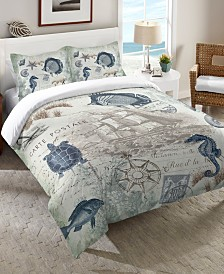 Laural Home Seaside Postcard Bedding Collection