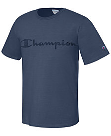 Champion Men's Garment-Dyed Logo T-Shirt