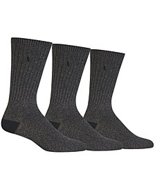Polo Ralph Lauren Men's Big & Tall 3-Pk. Boot Casual Socks