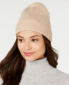 Charter Club Cashmere Cuffed Beanie, Created for Macy's