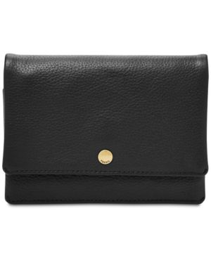 Image of Fossil Aubrey Multifunction Pebble Leather Wallet