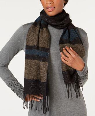 Striped Soft Knit Scarf