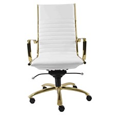 Dirk Leather High Back Office Chair, Quick Ship
