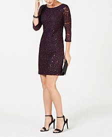 Jessica Howard Sequined Lace Dress