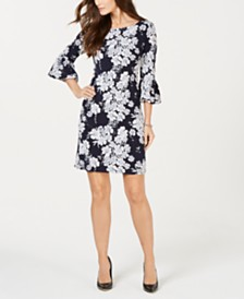 Jessica Howard Petite Floral-Print Dress