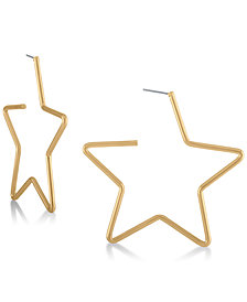 RACHEL Rachel Roy Gold-Tone Star Hoop Earrings