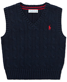 Polo Ralph Lauren Baby Boys Cable-Knit Cotton Vest