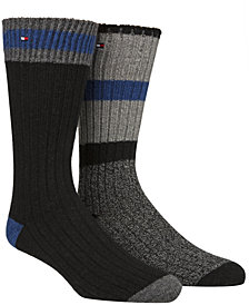 Tommy Hilfiger Men's 2-Pk. Cabin Crew Socks