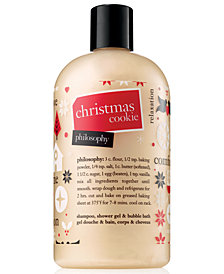 philosophy Christmas Cookie Shampoo, Shower Gel & Bubble Bath, 16-oz.
