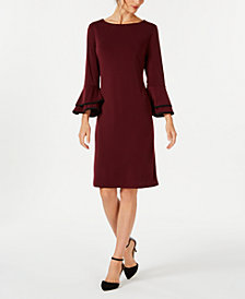 Charter Club Bell-Sleeve Shift Dress, Created for Macy's