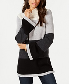 Petite Colorblocked Sweater, Created for Macy's