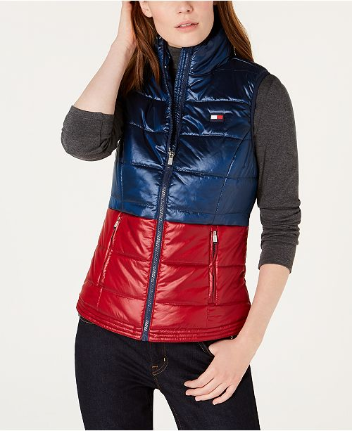 d266abd80e1 Tommy Hilfiger Shiny Bi-Color Vest   Reviews - Jackets   Blazers ...