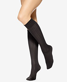 4 Pack Assorted Texture Knee-High Socks