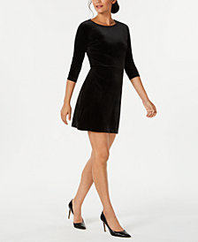 Charter Club Velvet A-Line Dress, Created for Macy's