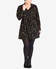 City Chic Trendy Plus Size Floral-Print Tunic Shirt