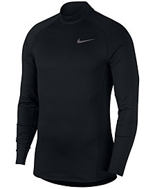 Nike Men's Pro Terry Mock-Neck Top