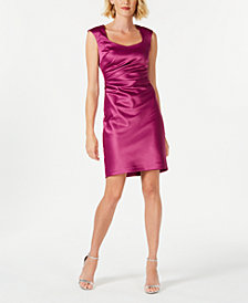 Donna Ricco Boat-Neck Shift Dress